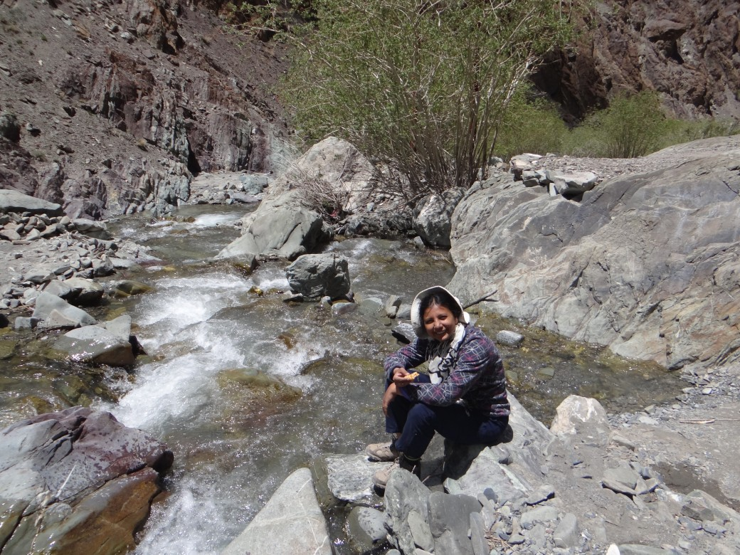 Kadambari Devarajan trekking in the Himalayas (a couple of years after treatment)